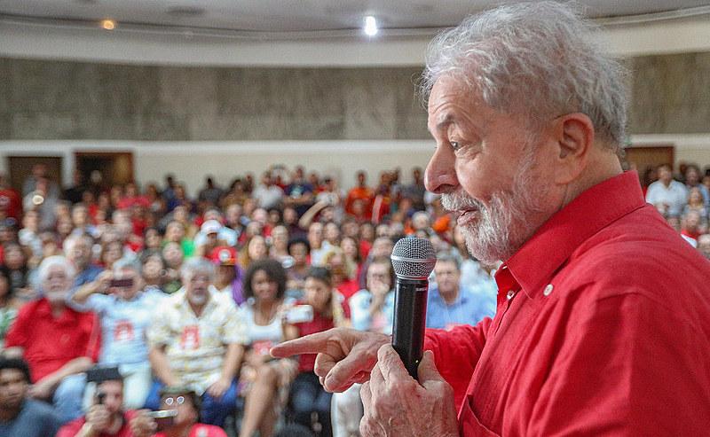 Lula em reunião da Executiva Nacional do PT em Salvador (BA), no último dia 14