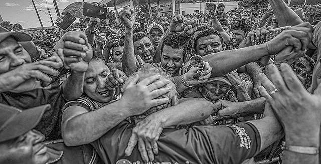 Recepción de la caravana de Lula en la ciudad de Inhuma, en el Estado de Piauí, en 2017