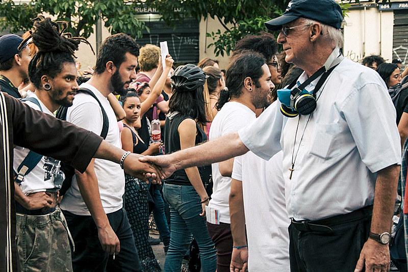 Lancelotti diz que não tem medo das ameaças: 'quem sofre é quem está na rua' | Foto: Daniel Arroyo/Ponte
