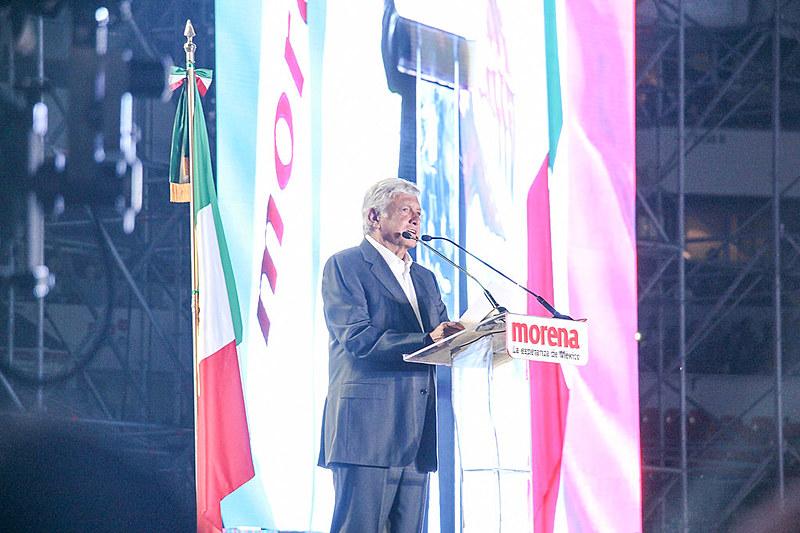 No encerramento de campanha, na última quarta-feira (27), López Obrador discursou para mais de 80 mil pessoas no estádio Azteca
