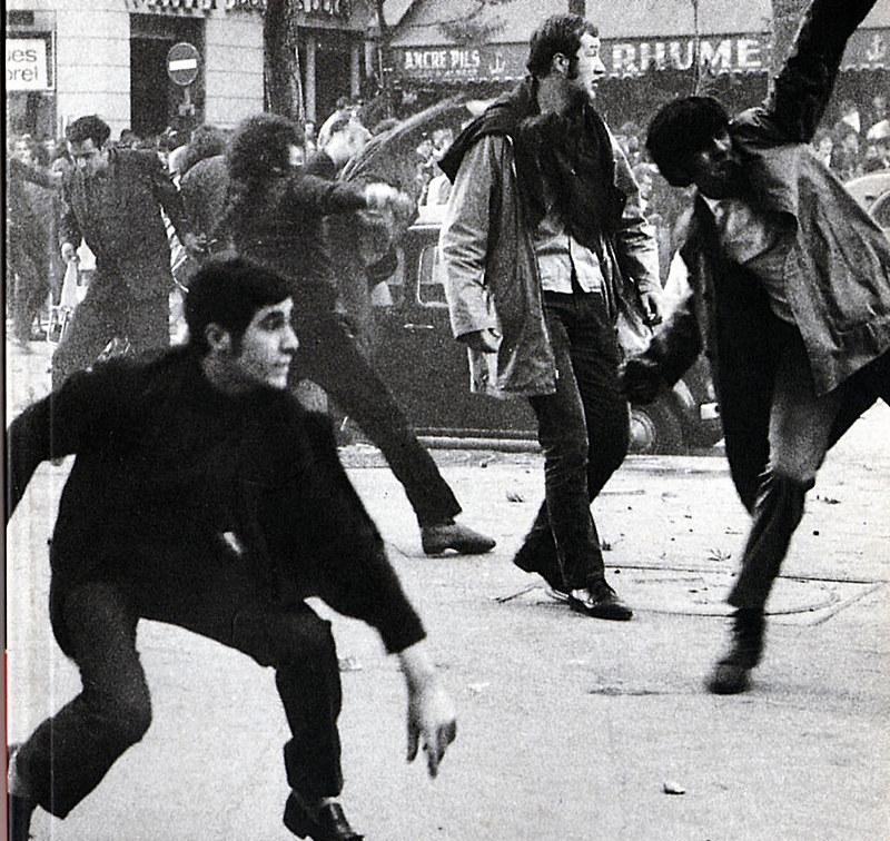 Protesto em maio 68 - Paris