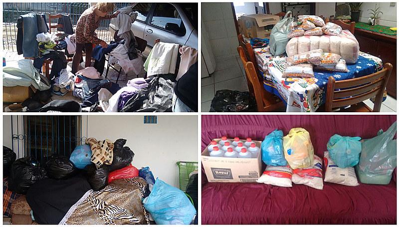 Colchões, fraldas, materiais de higiene e eletrodomésticos em geral estão entre as doações mais urgentes