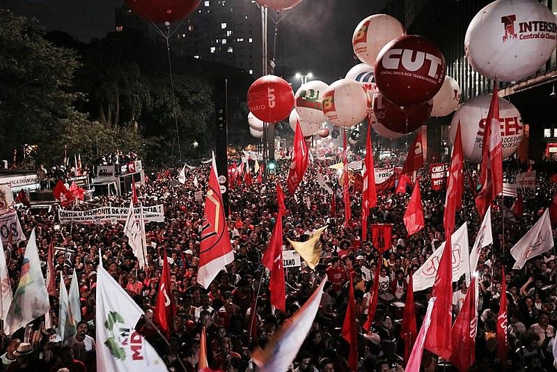 Última grande mobilização das centrais sindicais em São Paulo, no dia 15 de março