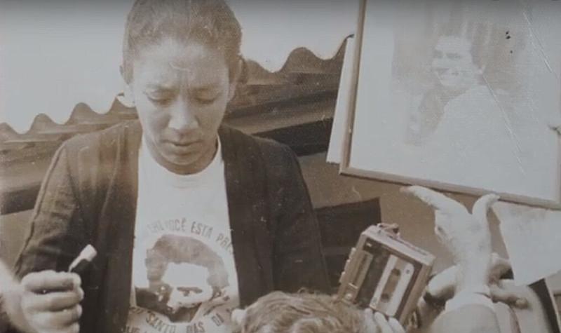 A militante Ana Dias, viúva do operário Santo Dias, assassinado durante a ditadura