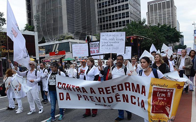 Movimento cobrou condições de trabalho e atendimento, além de reposição salarial e revogação da Emenda Constitucional 95.