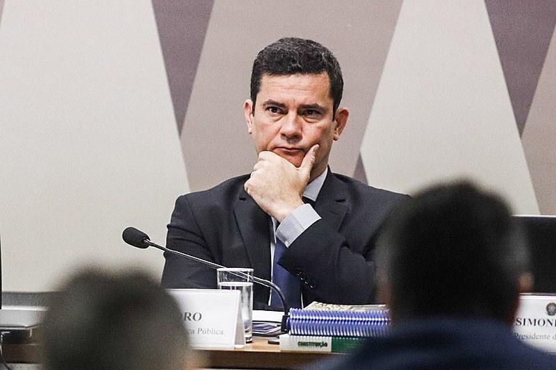 Ministro da Justiça, Sérgio Moro, durante audiência na CCJ do Senado