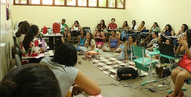 Roda de conversa sobre parto humanizado em Santarém (PA)