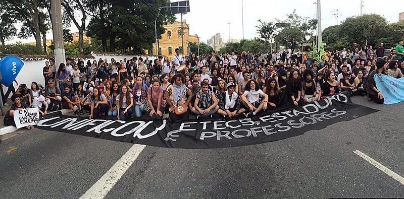 Estudantes secundaristas das ETECs de São Paulo, em maio deste ano