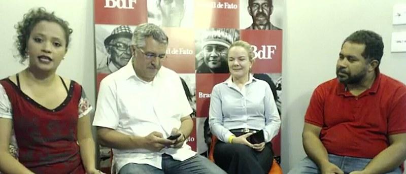 Debate ao vivo com Gleizi Hoffmann, Alexandre Padilha e João Paulo Rodrigues