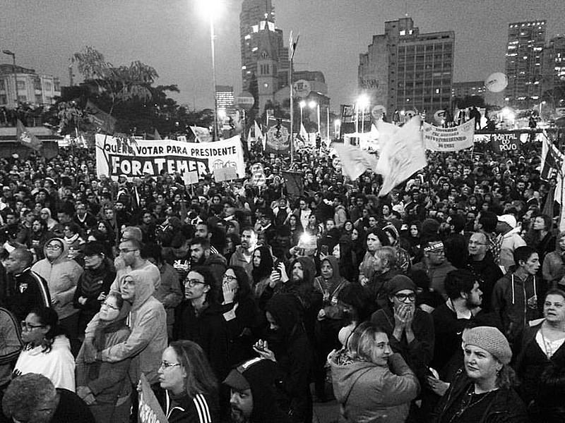 No Largo da Batata, 70 mil estiveram presentes; no total 35 milhões pararam o trabalho