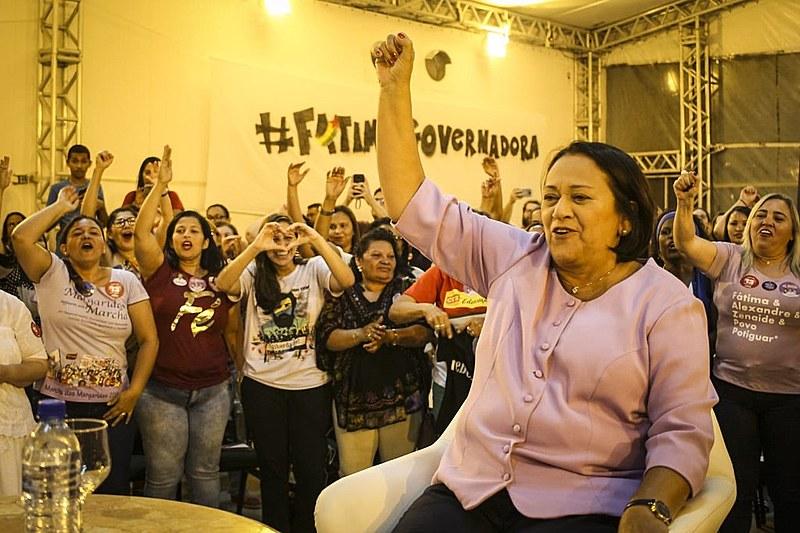 Fátima foi diplomada governadora na noite de quarta-feira (19)