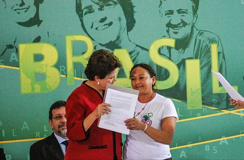 Dilma Ferreira Silva ao lado da então presidenta Dilma Rousseff (PT)