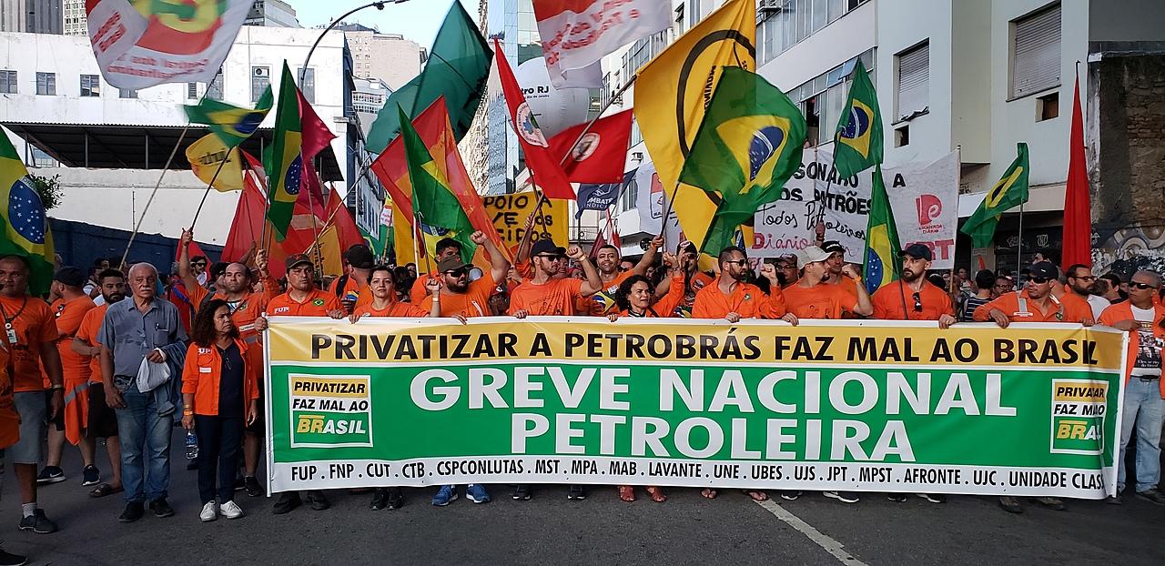 Greve dos petroleiros, no Rio de Janeiro