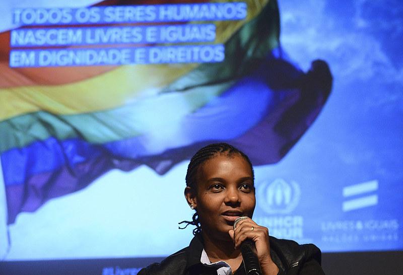 Moçambicana Lara Lopes, que trabalha na área de tecnologia, veio para o Brasil para fugir de perseguição em relação à sua identidade sexual