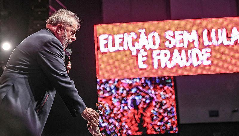 Lula em ato com artistas e intelectuais no Rio de Janeiro