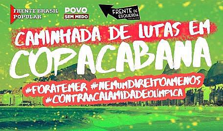 #ForaTemer, #NemUmDireitoaMenos, #ContraaCalamidadeOlímpica