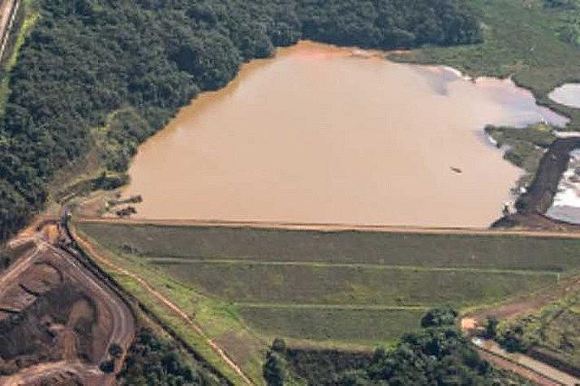 Represa de Macacos, en el municipio de Nova Lima, en Minas Gerais, una de las represas en nivel de alerta máximo por riesgo de ruptura