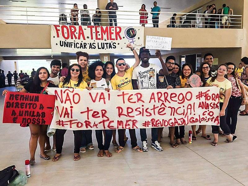 Estudantes da Unilab se manifestam contra cortes de auxílios para estudantes estrangeiros