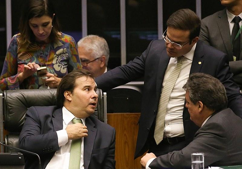 Presidente da Câmara, Rodrigo Maia, durante sessão para votar a Proposta de Emenda à Constituição (PEC 77/03) da Reforma Política - 23/08/17