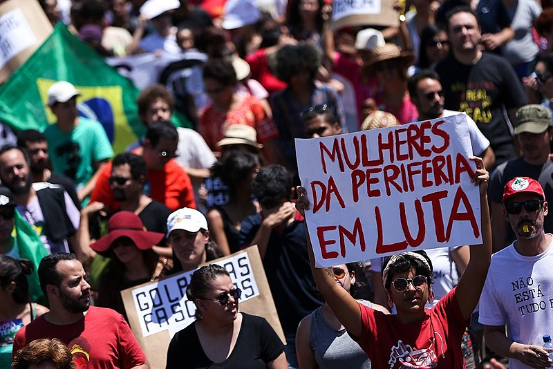 Grito dos Excluídos de 2016, manifestando contra o governo de Temer, na Esplanada dos Ministérios