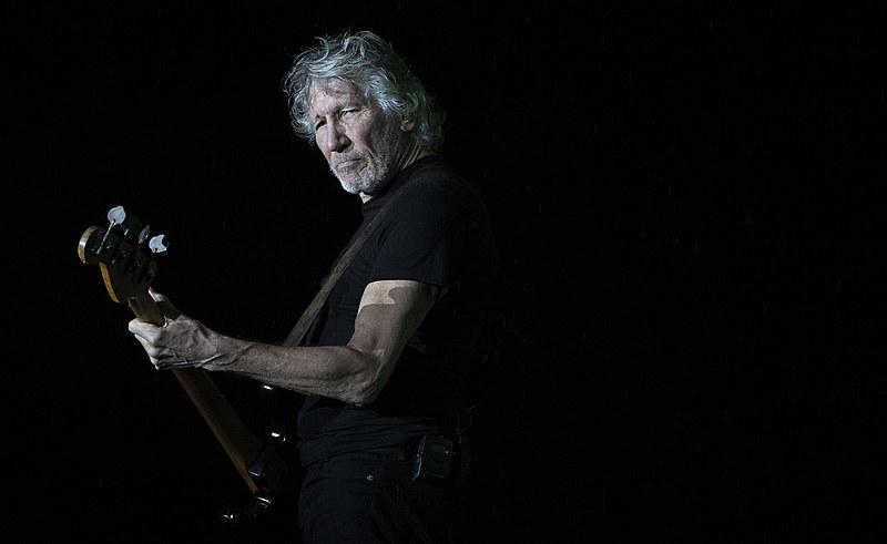 Roger Waters durante show no Maracanã, na turnê de 2018 no Brasil.