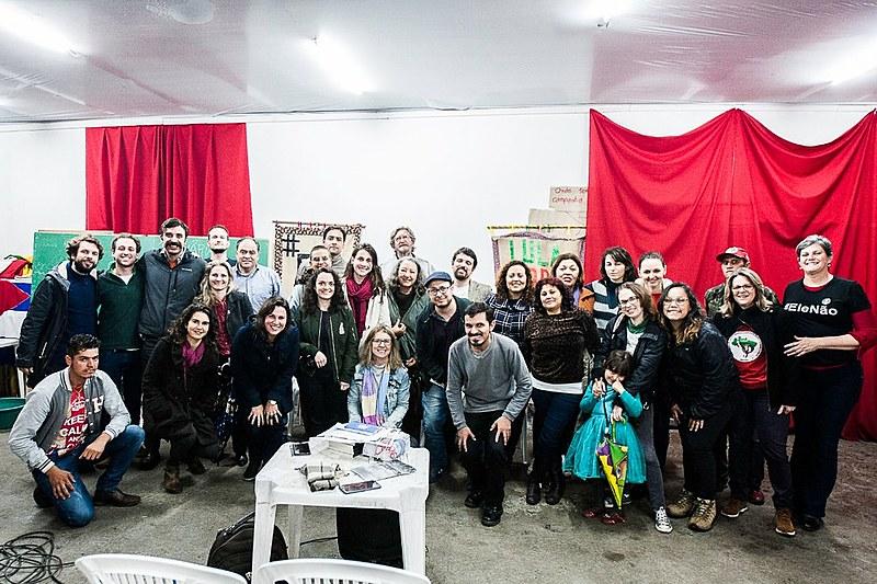 Encontro reuniu integrantes do Brasil de Fato, da Mídia Ninja, do Terra Sem Males, do Porém.net. e da comunicação de movimentos populares