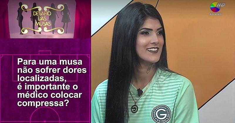Karol Barbosa, candidata a musa do Goiás, é desrespeitada em programa da Band