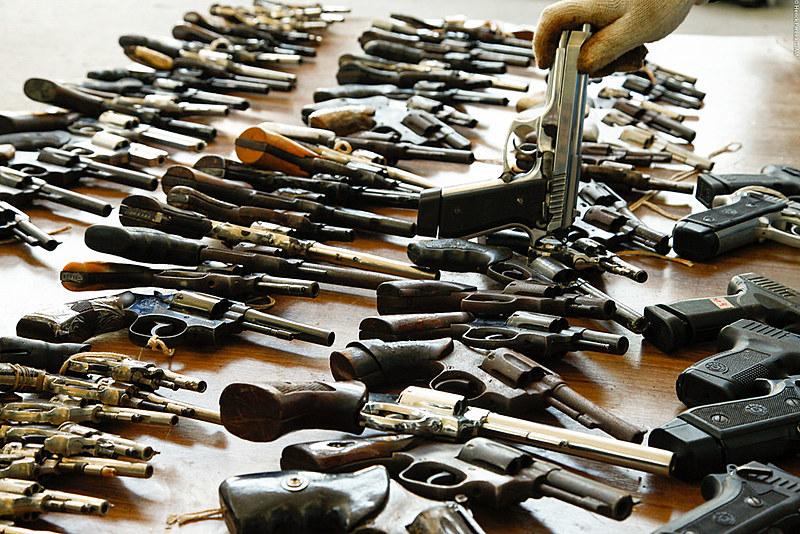 Armas à disposição da Justiça do Tribunal do Amazonas para serem destruídas