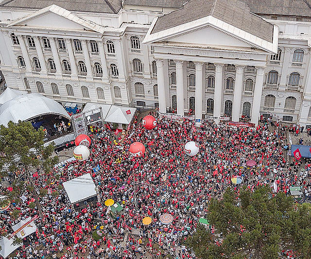 May Day protest in Curitiba