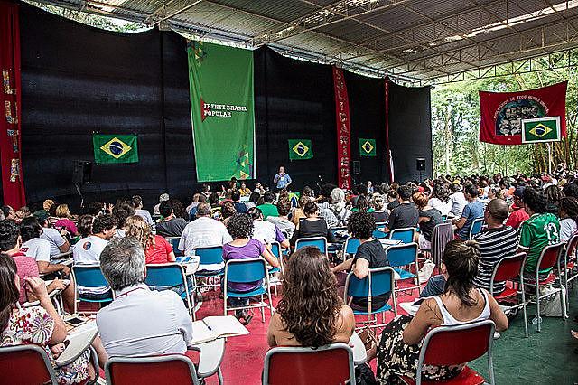 2ª Conferencia Nacional del Frente Brasil Popular en la Escuela Nacional Florestan Fernandes (ENFF), en el municipio de Guararema, São Paulo