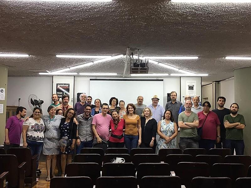 Jornalistas após assembleia no sindicato em São Paulo