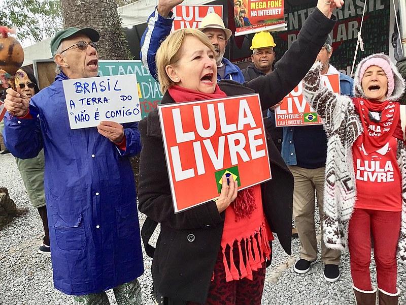 Ato de ''Boa tarde Presidente Lula'' na Vigília Lula Livre, que chegou a 485 dias de resistência em Curitiba (PR)
