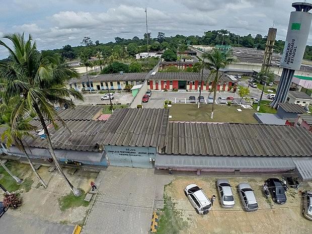 Complexo Prisional Anísio Jobim (Compaj), em Manaus (AM), onde 56 detentos foram assassinados após conflito entre facções criminosas