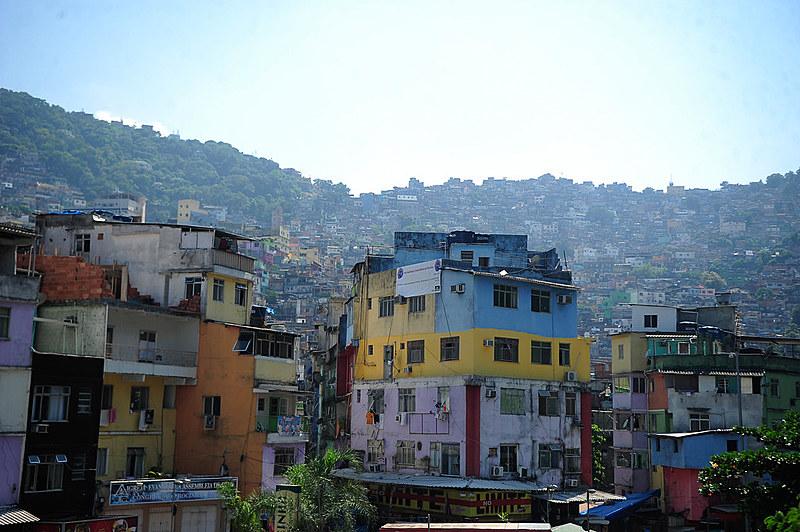 Comunidade da Rocinha, localizada na zona sul do Rio de Janeiro