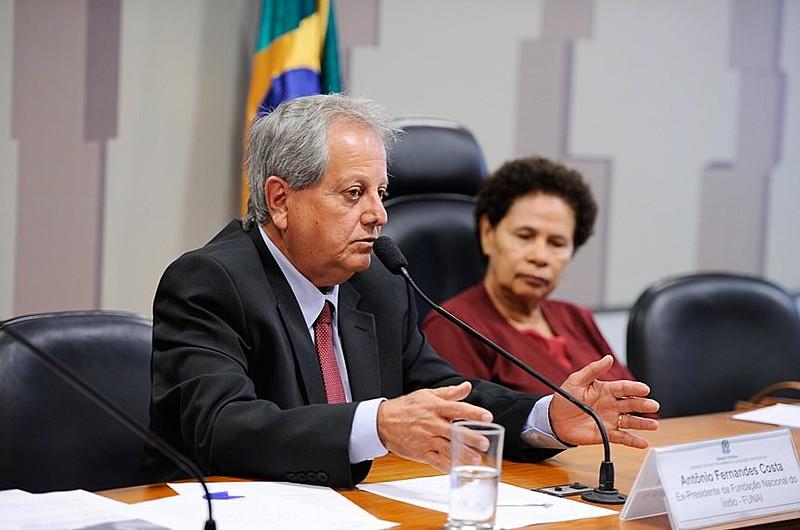 Antonio Costa, durante depoimento à Comissão de Direitos Humanos do Senado