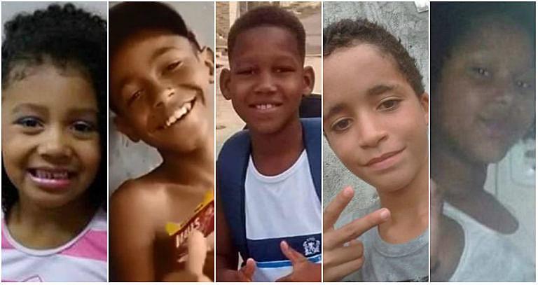 Crianças mortas em 2019 até o mês de outubro:  Ágatha Félix, Kauê Ribeiro dos Santos, Kauã Rozário, Kauan Peixoto e Jenifer Silene Gomes