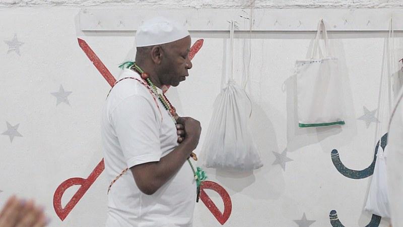 Praticante de Umbanda no Terreiro