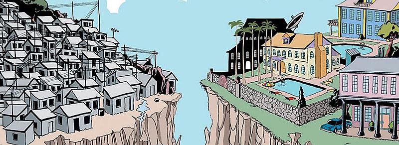 No Brasil, a imensa maioria da população vive em condições absolutamente precárias enquanto o seleto e privilegiado grupo dos 1% concentra quase 30% de toda a renda
