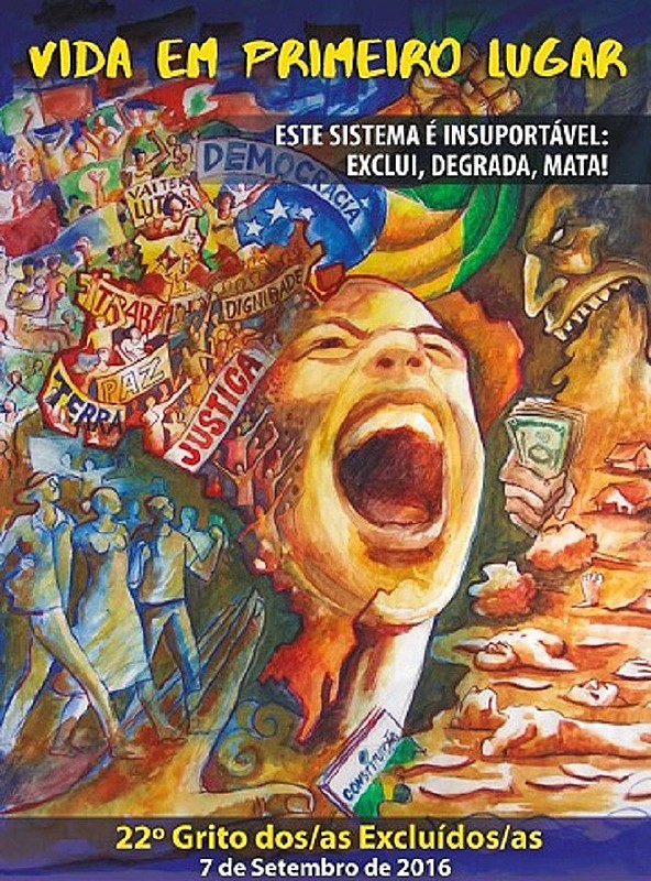 O Grito dos Excluídos acontece no dia 7 de setembro