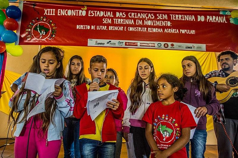 Encontro pretende tem o objetivo de fortalecer a coletividade e a construção da identidades das crianças Sem Terrinha