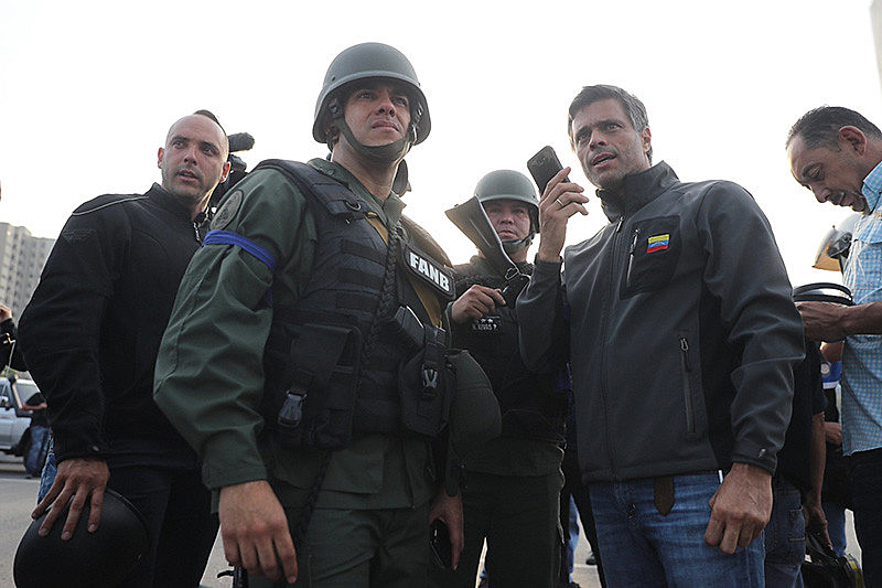 Líder do partido Vonluntad Popular, Leopoldo López comanda operação de golpe contra Maduro