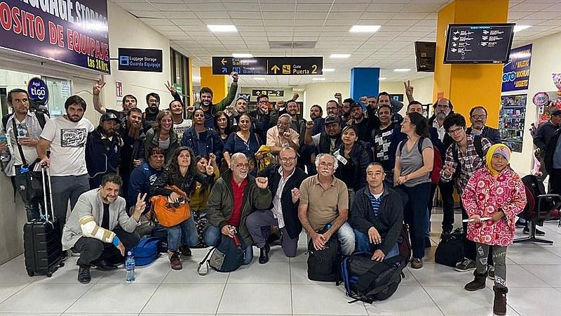 Integrantes da delegação chegaram à Bolívia nessa quinta-feira (28)