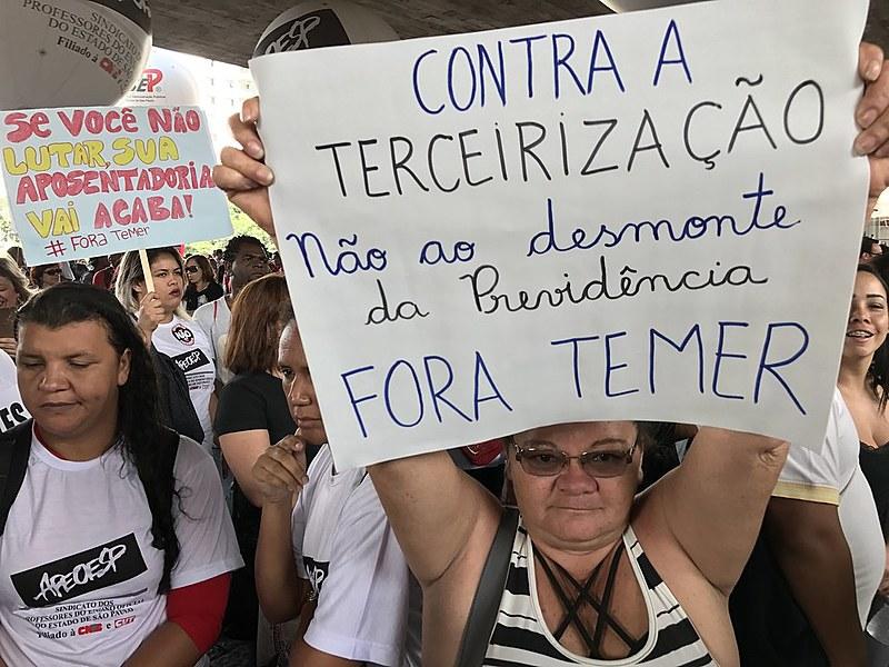 Ato contra a reforma da previdência na avenida Paulista (SP)