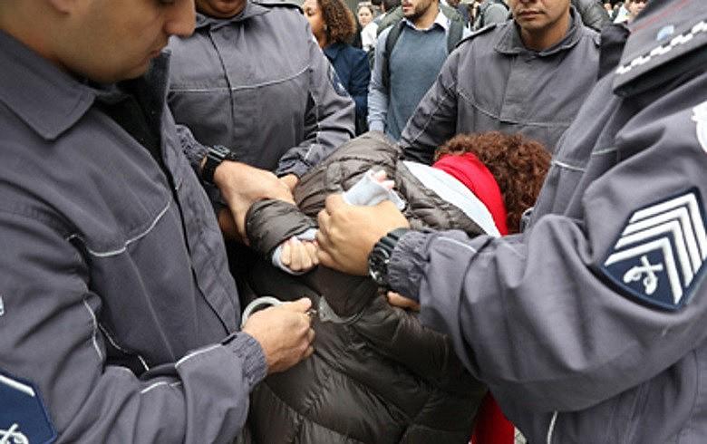 Diretora do Sindicato dos Bancários de São Paulo foi detida durante manifestação no Santander: truculência, diz entidade