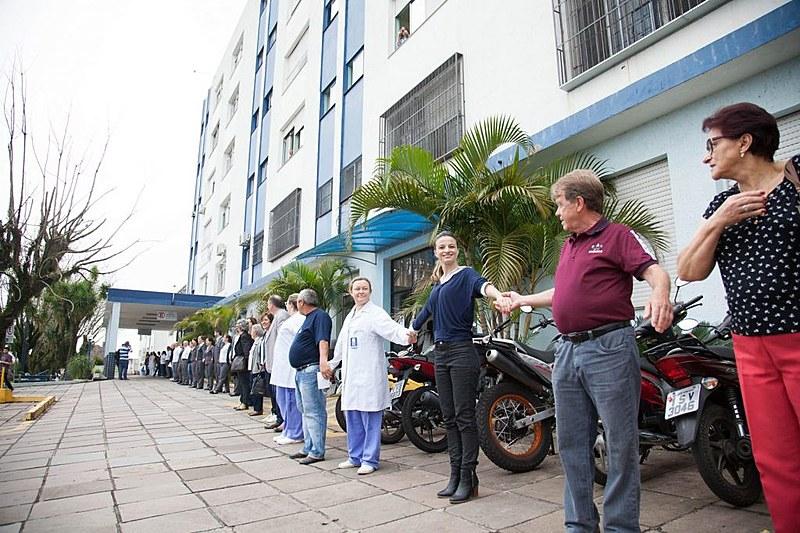 Abraço ao Hospital Montenegro 100% SUS no Dia Nacional da Doação de Órgãos do ano passado assinalou o engajamento da população