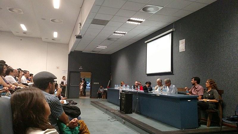 Evento ocorreu no auditório do prédio da Faculdade de Filosofia, Letras, Ciências Sociais e História da USP