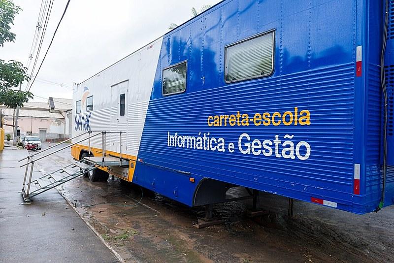 Unidade móvel do Senac foi inaugurada semana passada