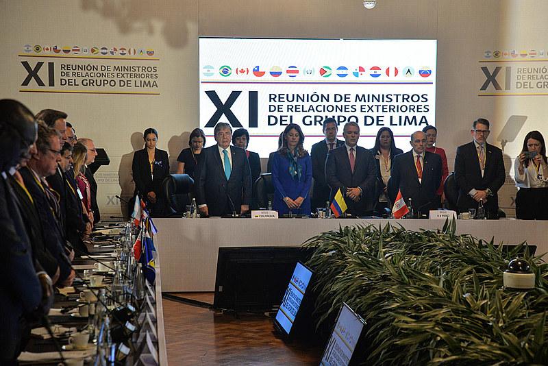 Embora os EUA não façam parte do Grupo, o vice-presidente Mike Pence participou da sessão