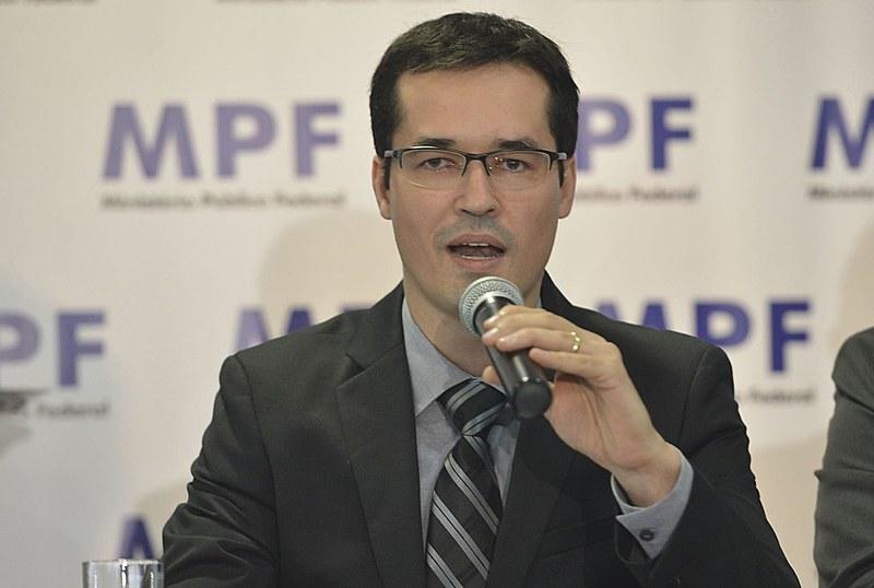 Deltan Dallagnol, coordenador da Operação, na cerimônia de devolução a Petrobras de valores recuperados pela Operação Lava Jato