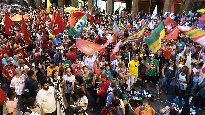 Protesto da FBP realizado em maio deste ano, em Porto Alegre